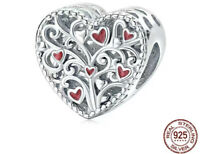 Authentic Sterling Silver Charm The tree of life love Charm Bead