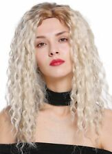 Women's Wig Side Part Afro Crepe Curl Curly Ombre Blonde Mix