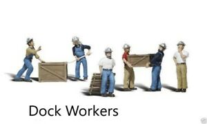 Woodland Scenics Scenic Accents Dock Workers  Figures Set N Scale