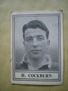 H COCKBURN, MANCHESTER UNITED, BARRATT FAMOUS FOOTBALLERS CARD