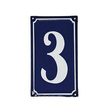 dotcomgiftshop 3 FRENCH BLUE METAL DOOR SIGN