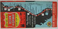 Vintage 1947 New York to Miami Ocean Highway Map