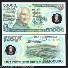 INDONESIA 50000 RUPIAH P134 1993 REPLACEMENT ZZZ  POLYMER COMMEMORATIVE + FOLDER