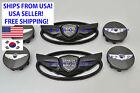2011-2016 For Hyundai Genesis Coupe Gloss Black Wing Emblem Wheel Caps