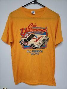 Vtg Cale Yarborough M.C. Anderson Racing Shirt Lg Yellow 1981 NOS