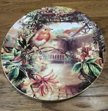 Wedgwood Bone China Plate - Old English Gardens - Robin and Honeysuckle