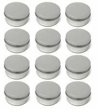 12 pack 4oz Screw Top Lid Round Aluminum Tin Jars Metal Craft Cans Container Box