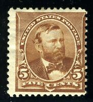 UNITED STATES SCOTT# 223 GRANT MINT HINGED AS SHOWN