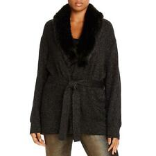 MICHAEL Michael Kors Womens Black Cardigan Sweater Jacket Plus 2X BHFO 6167