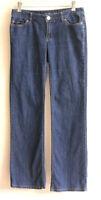 Michael Kors Low Rise Boot Cut Jeans Zipper Pockets Blue Medium Wash Womens 4