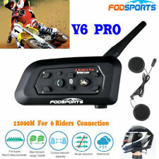 1200m Intercom Motorcycle V6 Bluetooth Helmet Headset Moto Interphone 6 Riders