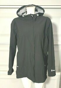 Free Country Women's Black Jacket Lightweight Rain Waterproof Hood Size XL