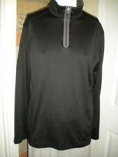 Men's Tek Gear Elements Series Size L  Black Long Sleeve Pullover Shirt CB333
