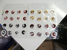 POGS SKULLBOY&MR. BOOYA SET of 32 4 DIFFERENT COLORS TYPES RARE&AWESOME