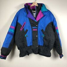 Vintage EAST WEST Womens Multicolor LARGE Puffer Outdoor Ski Winter Jacket S3