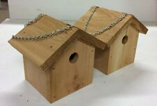 Cedar Wren House. Handmade. Chain hanging with cleanout