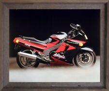 Kawasaki Ninja Zx11 Ron Kimball Motorcycle Wall Decor Framed Picture (19x23)