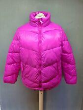 Ladies SIZE 18 autumn winter pink drawstring hem puffa coat (G168)