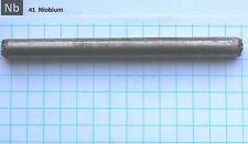 130g 99.9% Niobium Columbium Metal Rod (135mm x11.5mm) - Element 41 sample