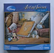 Disney Artist Pinocchio Jigsaw Puzzle In The Beginning Toby Bluth Jiminy Cricket