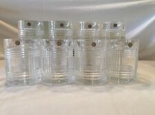 RALPH LAUREN GLEN PLAID 24% Crystal Glass Double Old Fashioned-4 Highball-4 NWT