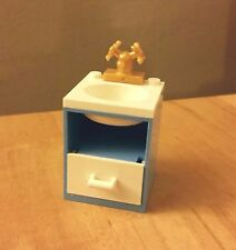 LEGO Custom Furniture BATHROOM SINK Medium Blue White Basin Drawer! City Friends