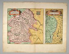 Biturigum COTE TU Rhône-Ortelius 1584 ORIG cuivre carte Map France France