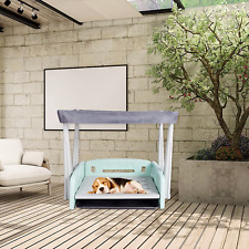 Pet Bed, Multifunctional Pet Bed with Tent, Wash Station, High Density Plastic