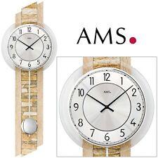 Ams 7423 Wall Clock Quartz with Pendulum Wooden Housing Sonoma Look