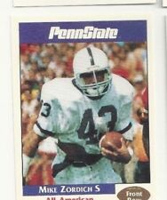 MIKE ZORDICH 1992 Front Row Second Mile PENN STATE Nittany Lions QUANTITY