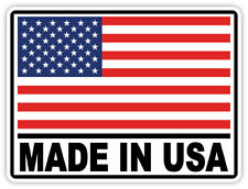 "Made in USA sticker decal 5"" x 4"""