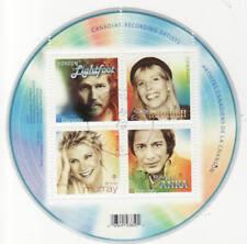 Canada 2007 Recording Artists Souvenir Sheet Used