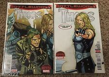 THORS  #3 & #4  lot  2015 Marvel - secret wars loki angela asgard WOW no digital