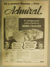 Admiral Appliances Ad: New Admiral Post War Refrigerator from 1944
