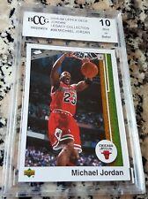 MICHAEL JORDAN 2008 Upper Deck Legacy 1989 Style BGS BCCG 10 Bulls HOF MVP $$