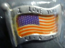 American Flag I Love USA Patriotic Pin