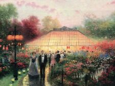 The Garden Party -- Painter of Light Art Card -- Thomas Kinkade Dealer Postcard
