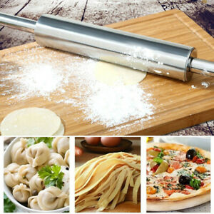 Smooth Home Metal Stainless Steel Rolling Pin For Baking Fondant Pie Cookie