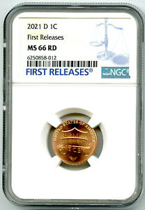 2021 D LINCOLN UNION SHIELD PENNY NGC MS66 FIRST RELEASES CENT RARE BLUE LABEL