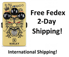 New Keeley El Rey Dorado Classic Distortion & Overdrive Guitar Effects Pedal