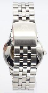 Orient Herren Analog Automatik Edelstahl Armbanduhr FER2700BB0 silber schwarz