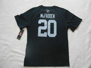 Authentic NFL Team #20 Darren McFadden Raiders Cotton Jersey Shirt Youth 2XL NEW