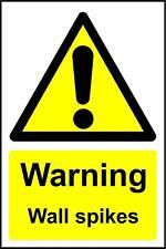 Signos de advertencia Signo De Seguridad Púas De Pared