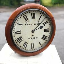 More details for victorian mahogany fusee dial clock.