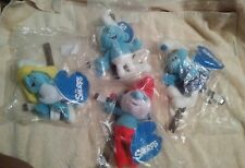 """The Smurfs Peyo 8"""" String Puppets 2011 Papa, Smurfette, Gusty & Clumsy lot of 4"""