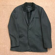 INC International Concepts Charcoal Grey Zip Up Mock Casual Blazer Men's Medium