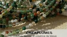lot de 50  Perles naturelles agate indienne 4 mm