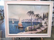 Aus einer Villenauflösung:H.Hassan Schiffsbild/Ölbild-Titel:Am Gardesee