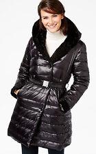 Jones New York Women Reversible Black Faux-Fur Down Mix Puffer Coat NWT Size XXL