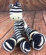 """Jellycat Zebra Soft Toy / Plush with Rattle - Rings 10,5"""""""